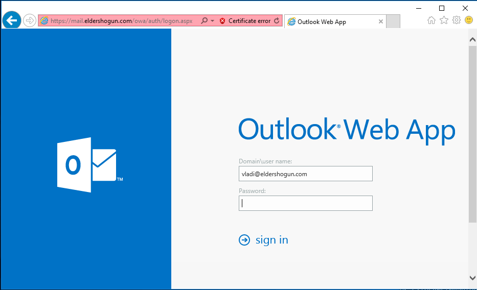 A pixel-perfect clone of the Outlook Web Access login page stealing passwords