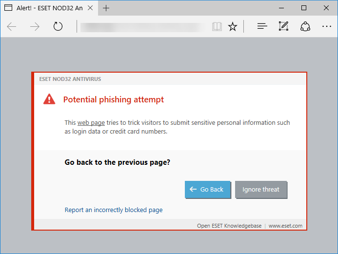 How certain antivirus products block phishing sites