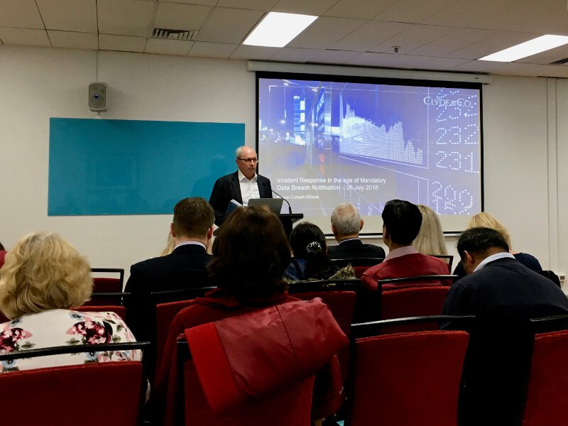 Chris Tyler (AIC NSW CEO) kicks off the Cyber Security Seminar