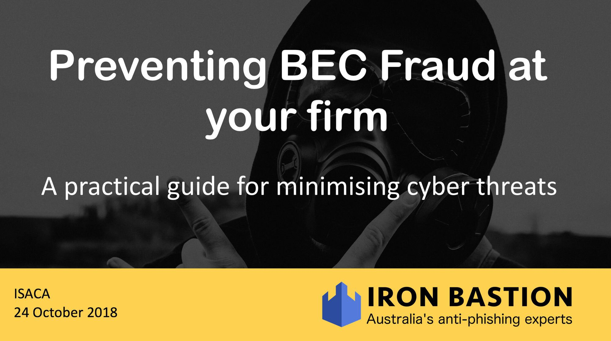 Preventing BEC Fraud at your firm